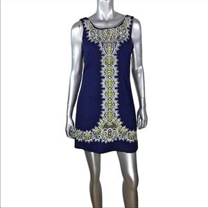Lilly Pulitzer Navy & Yellow Embroidered Dress